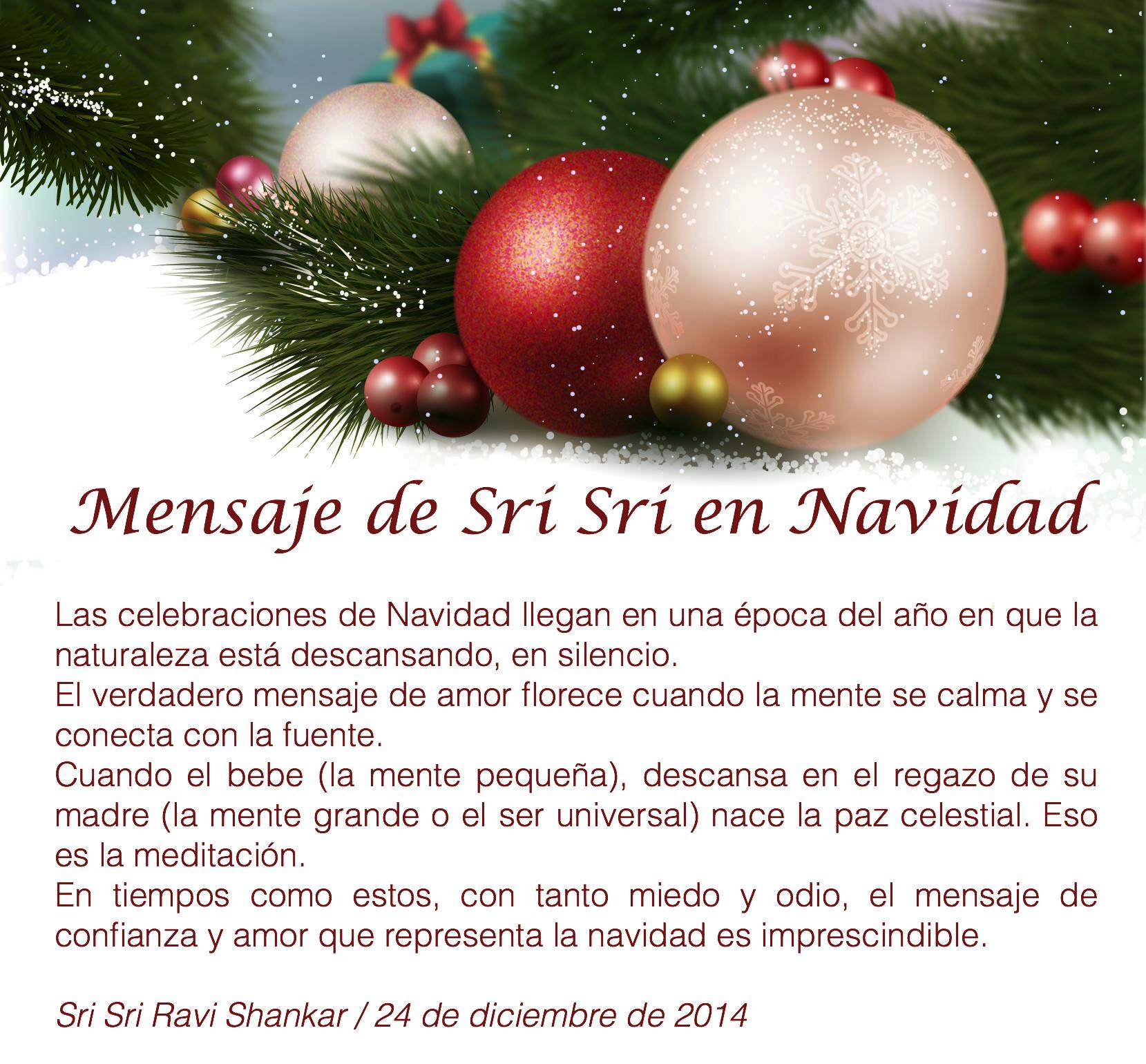 Mensaje de Navidad 2014